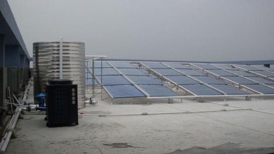 太阳能真空管+空气能热泵热水工程―[麻涌利丰机电设备有限公司]