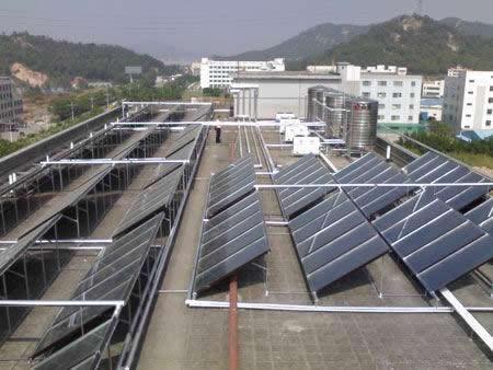 东莞长安东骏服装有限公司500人员工宿舍20吨太阳能工程