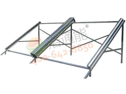浩通太阳能热水器工程双排不锈钢支架
