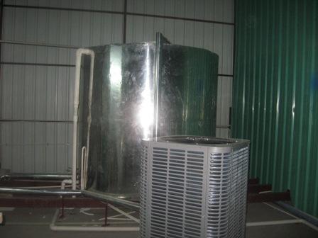 东莞东城主山超越羽毛球馆200多人集体宿舍10吨空气能热泵热水工程