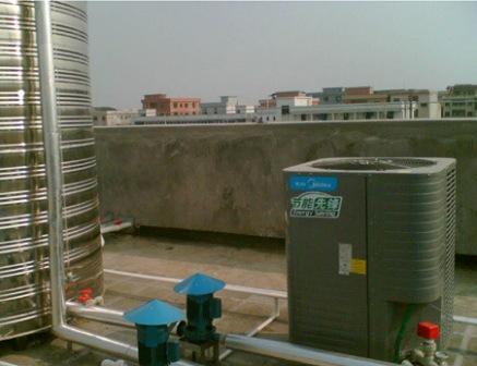 东莞厚街羽毛球馆150人员工集体宿舍7吨空气能热泵热水工程