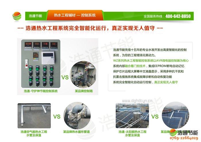 浩通5P空气能热泵顶出风GT-SKR050(KFXRS-17Ⅱ)系列热泵热水工程控制系统全自动控制图解