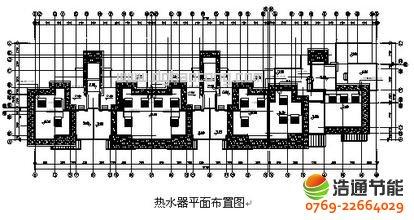 小区分户集热供水太阳能热水工程系统设计方案图纸