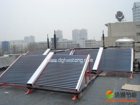 中泰建设集团(东莞)公司1.5吨太阳能热水工程项目安装实例