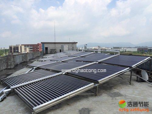广州市星雅机械有限公司10吨太阳能+空气能热泵热水工程项目