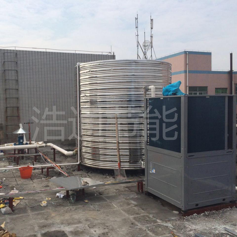 吉田建材(深圳)有限公司 日供30吨美的空气能热泵热水工程