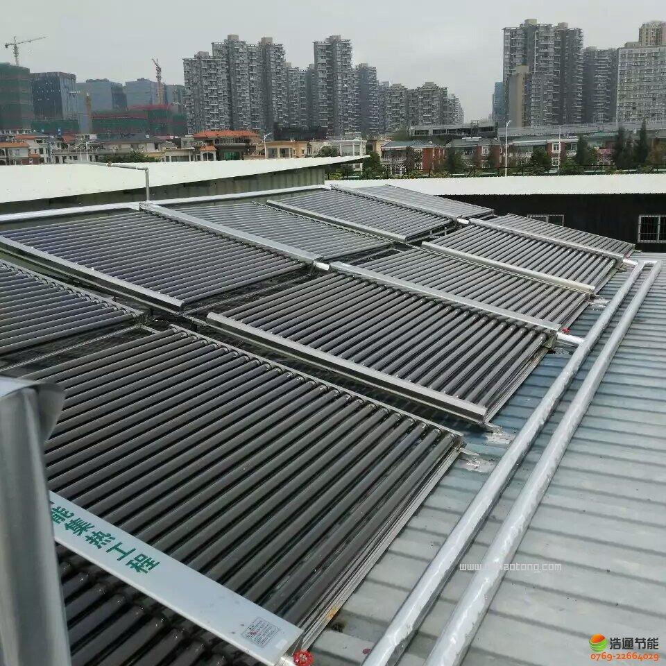 深圳集鑫汽车销售有限公司日供3吨太阳能+空气能热水工程