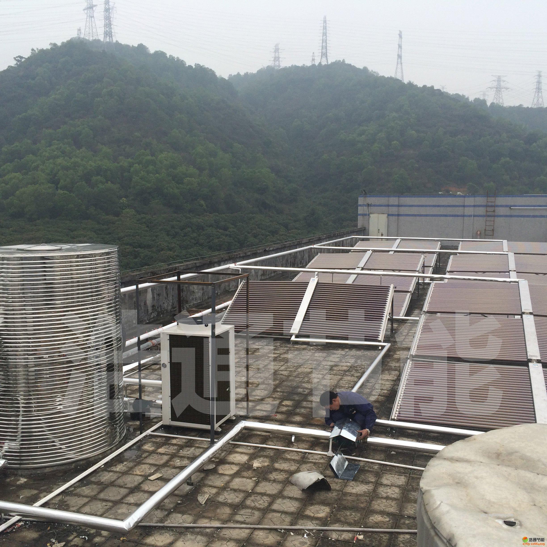 太阳能+空气能热泵联合热水工程效果图