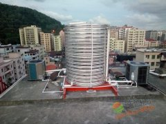 深圳宝安福惠商务宾馆-美的5P5吨空气能热水工程