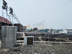 广州市乐基电子有限公司――2吨太阳能+空气能热水工程