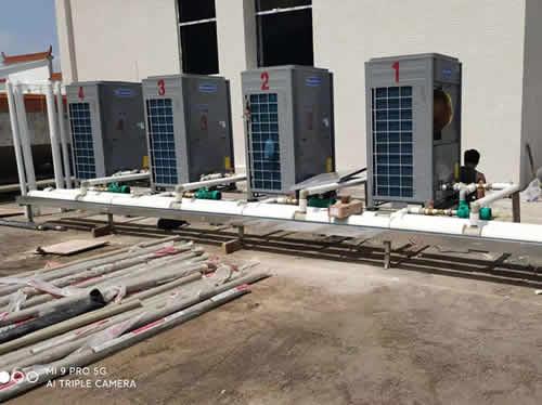 广州增城广雅学校2套40吨太阳能+空气能热水工程项目