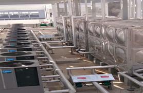 浩通热水工程——主机与水箱的定位